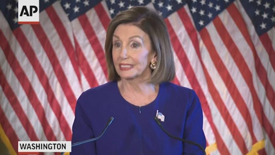 Nancy Pelosi at the September 24, 2019 press conference where she announced a formal impeachment inquiry into Presiden Trump