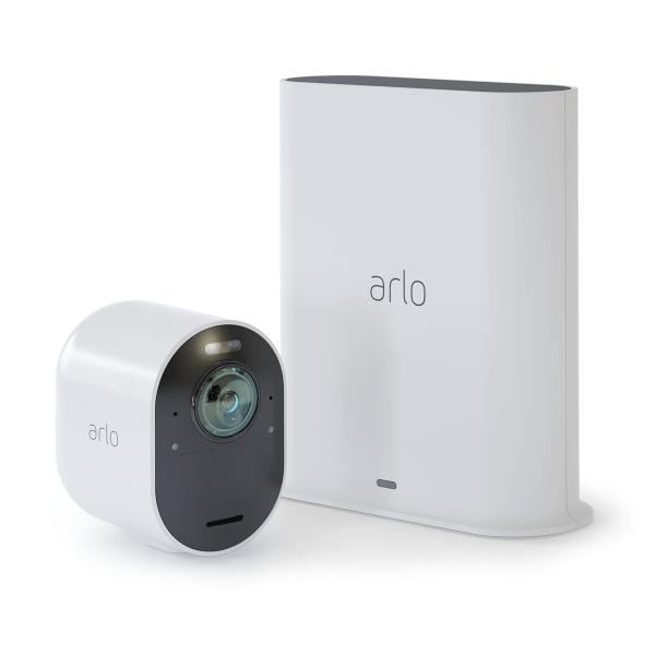 Arlo ultra avis prix test sortie de la caméra de sécurité sans fil 4K HDR base