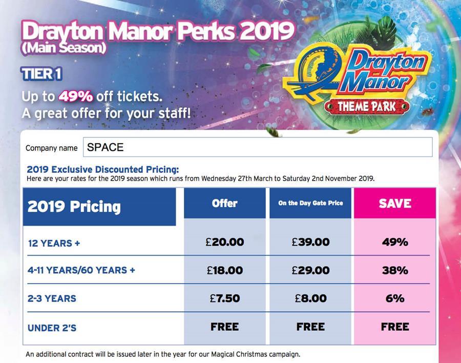 drayton manor ticket discounts
