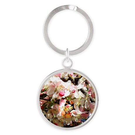 What spring does to cherry trees Round Keychain