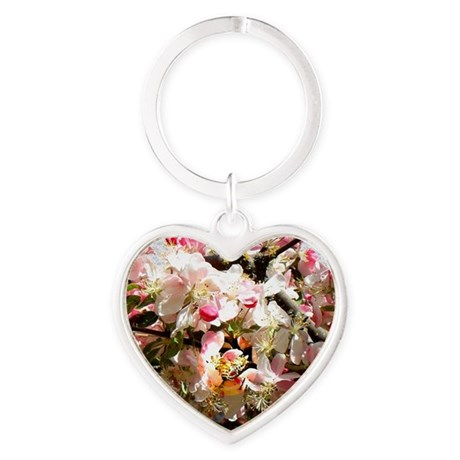 What spring does to cherry trees Heart Keychain
