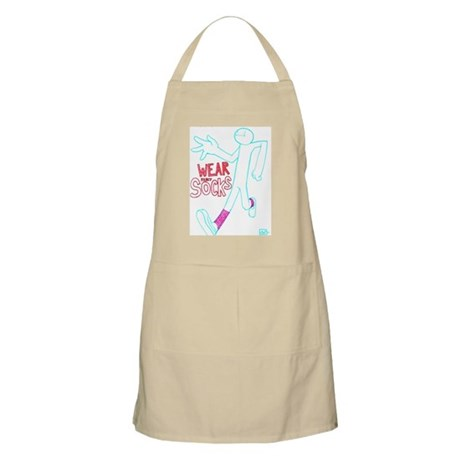 Wear socks Apron