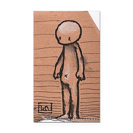 Standing guy Rectangle Car Magnet