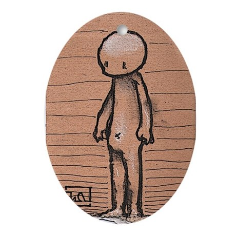 Standing guy Oval Ornament