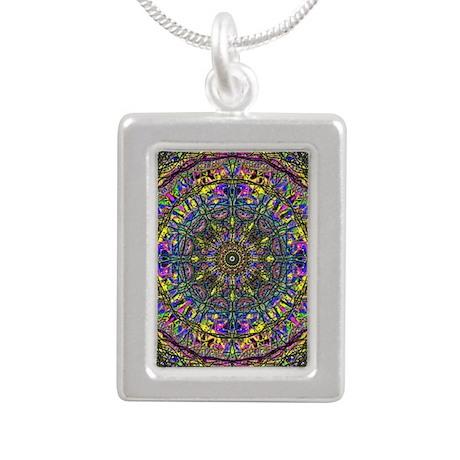 Mandala Silver Portrait Necklace