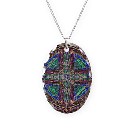 Hyperdoodle 1 Necklace Oval Charm