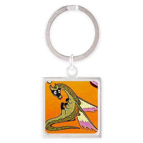 Dragon Lick Square Keychain