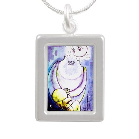 Don't be afraid Silver Portrait Necklace