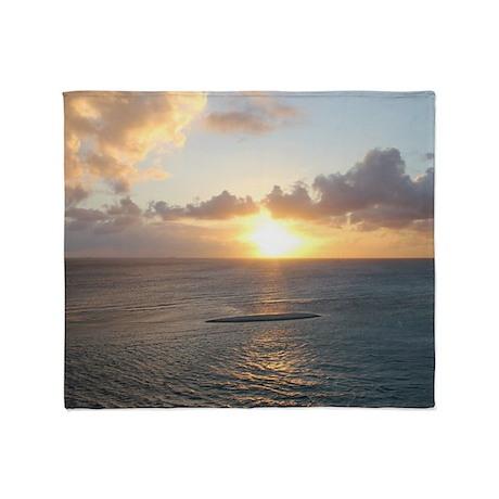 Aruba Sunset Throw Blanket