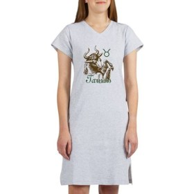 Zodiac Sign Taurus Symbol Women's Nightshirt