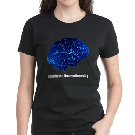 Celebrate Neurodiversity Blue Women's Dark T-Shirt