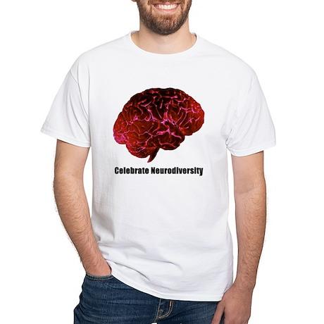 Celebrate Neurodiversity Red White T-Shirt