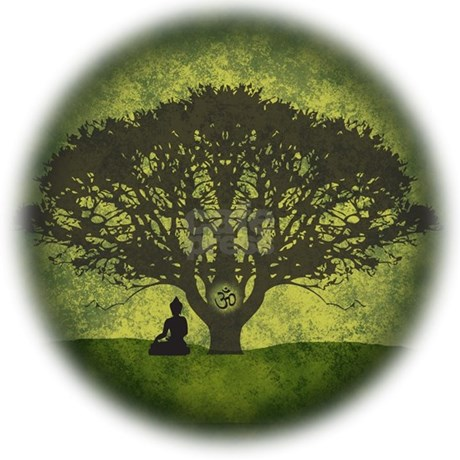 Buddha Under The Bodhi Tree Shower Curtain By Inspiredmoments