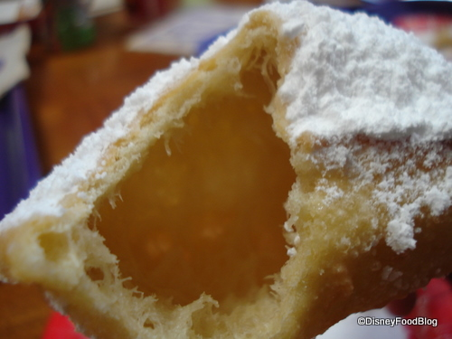 Inside, the beignets are hollow
