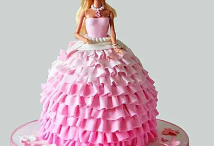 Pink Dress Barbie Cake 2kg Chocolate