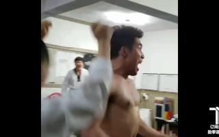 申珉哲720横踢四个脚靶