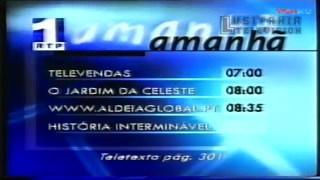 【放送文化】1999年11月19日葡萄牙国家广播电视第一套节目(RTP1)06:32节目结束及07:00节目开始
