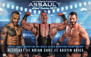 Ricochet vs Brian Cage vs Austin Aries