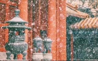 【古风空镜素材向】大雪纷飞、牵手放手、蜡烛香炉、喝茶、放笔、大雨等