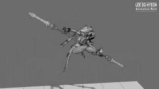 能亮瞎你的动作设计!game animation portfolio - spear