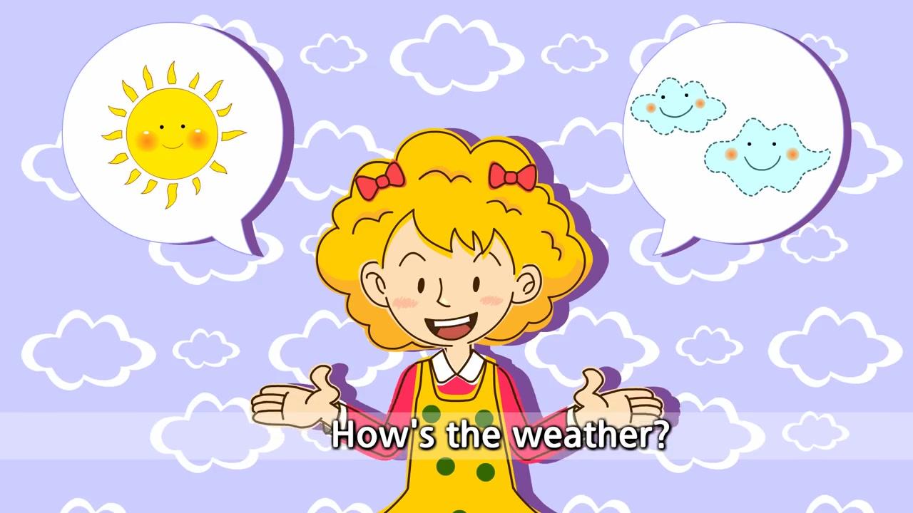 【史上最全英文兒歌單曲收集】How's the weather? rainy. sunny. windy. 天氣如何?下雨。 晴天。有風。_嗶哩嗶哩 (゜ ...