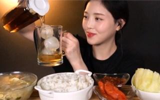 ◕Eat with boki◕(新|剪说话)配泡菜和豆芽汤以及拌凉菜~韩国吃播咀嚼音生活美食宵夜日常吃饭