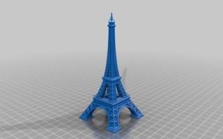 速度×1000倍看3d打印埃菲尔铁塔