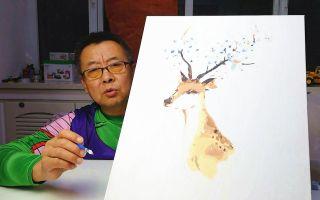 网购16.8元包邮的数字油画,老爹整整画了4个小时才完成