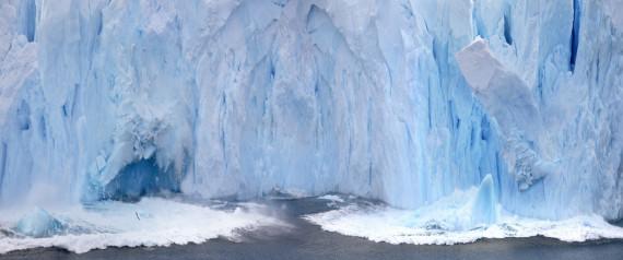 ICE CALVING ANTARCTICA