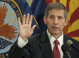 PHOENIX, AZ  - JUNE 5:   New Acting Secretary of Veterans Affairs Sloan Gibson.  (Photo by Laura Segall/Getty Images)