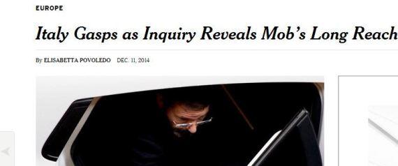 Il New York Times evidenzia la criminalità diffusa in Italia