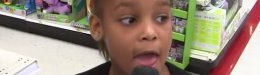 Image for Little Girl Takes Mic From Reporter, Delivers A Spot-On Broadcast At Target