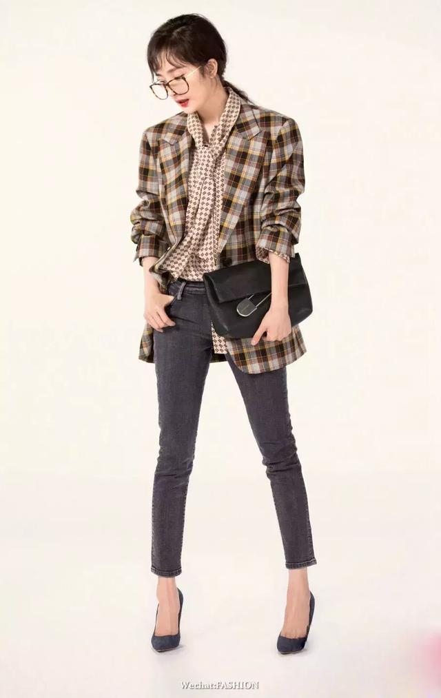 今年秋冬這也穿格紋西裝 小心比楊冪還時髦 - 每日頭條