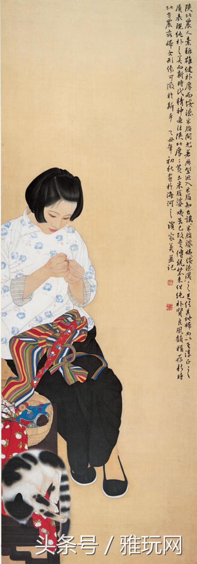 國畫榜:何家英作品《米脂婆姨》總分88 - 每日頭條