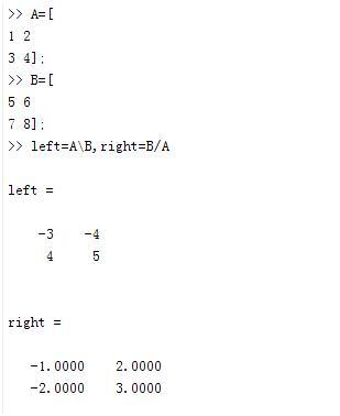 MATLAB矩陣運算-矩陣除法 - 每日頭條