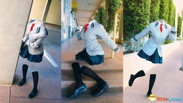 《我的英雄學院》透明人葉隱透Cos 只有行走的校服 - 每日頭條