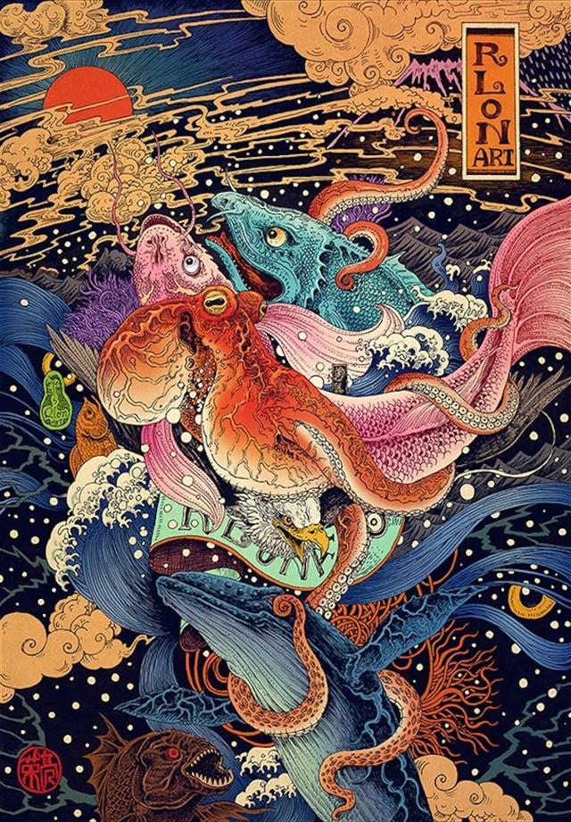 藝術邦-美不勝收的珍藏版手繪浮世繪插畫海報作品分享 - 每日頭條