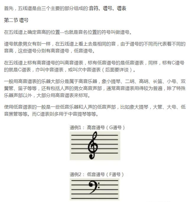 學音樂 五線譜知識大全 第二節 譜號 - 每日頭條