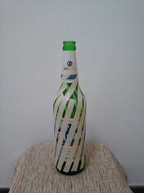 啤酒瓶廢物利用 DIY田園風花瓶 - 每日頭條