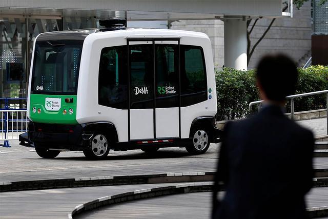 日本首次展開無人駕駛巴士試運營 - 每日頭條