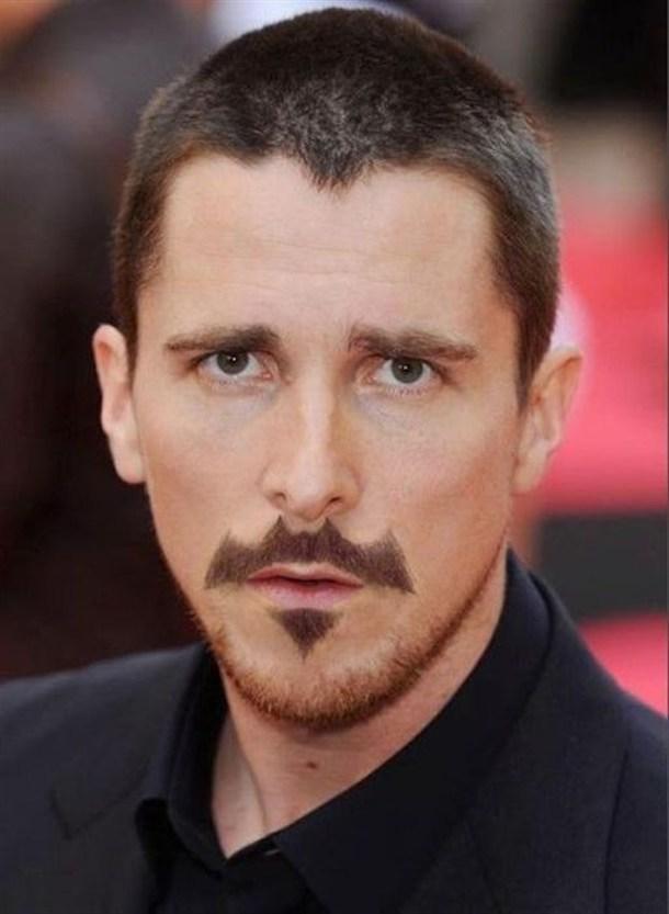 Christian Bale Batman Moustache Batstache Know Your Meme