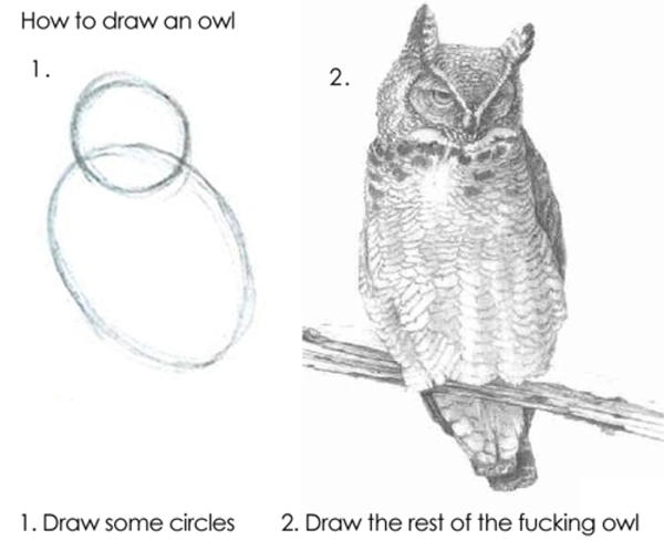 Image result for step 1 draw an owl