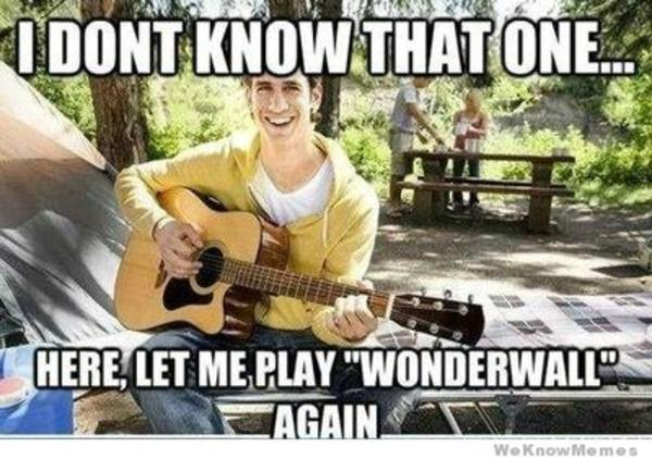 Image result for wonderwall meme