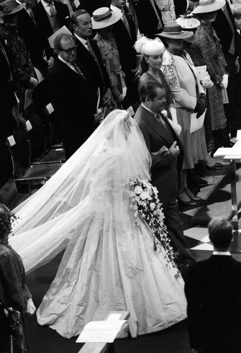 Diana on her wedding day