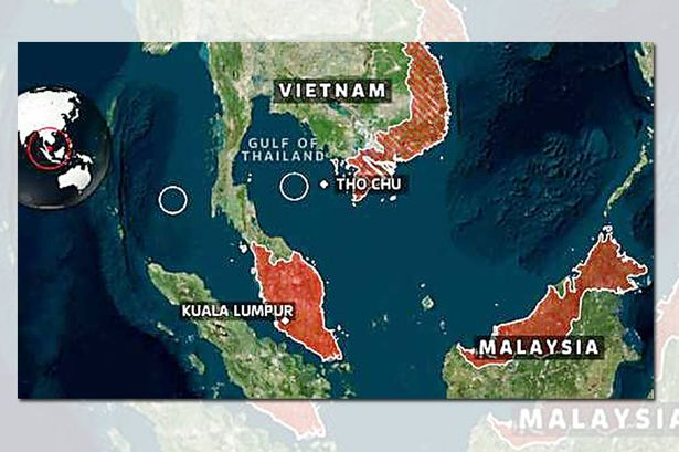 Malaysia Airlines Flight MH370 search map
