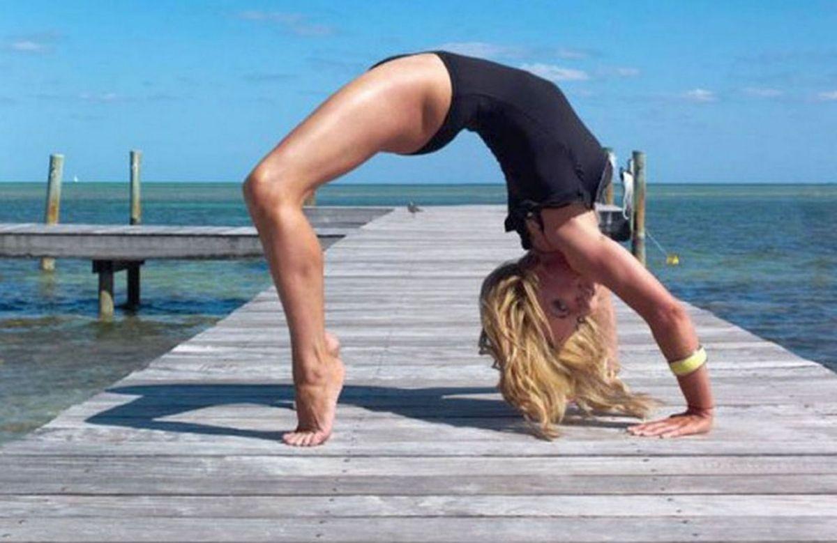 Geri Halliwell's yoga selfie