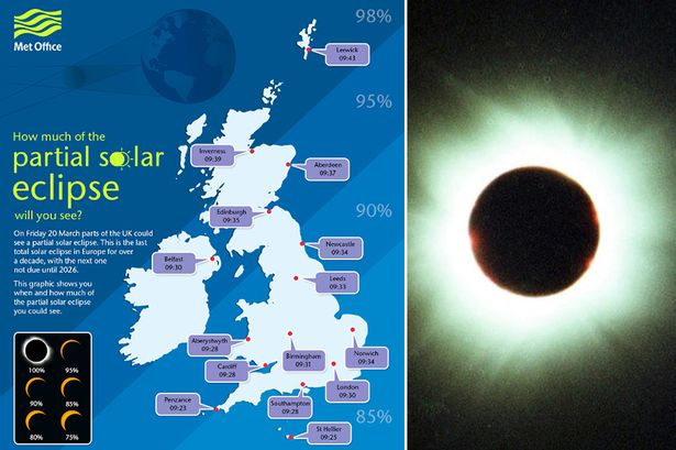 Information from the MET Office on this friday's coming total solar eclipse