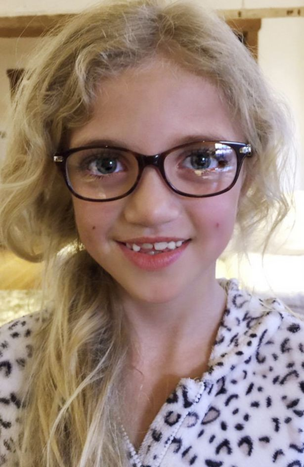 Katie Price posted an image of her daughter Princess wearing glasses