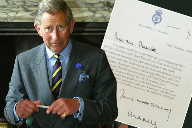 Image result for PRINCE CHARLES WRITING