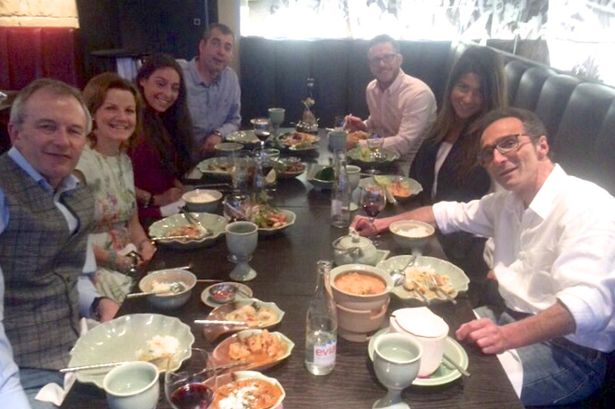 Jeffrey Spector travelled to Dignitas in Switzerland to take his own life in an assisted suicide because he feared he would be paralysed by an inoperable neck tumour. Pictured with his friends and family for his last meal before going to Dignitas